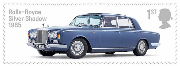 Rolls-Royce Silver Shaddow Stamp royal mail