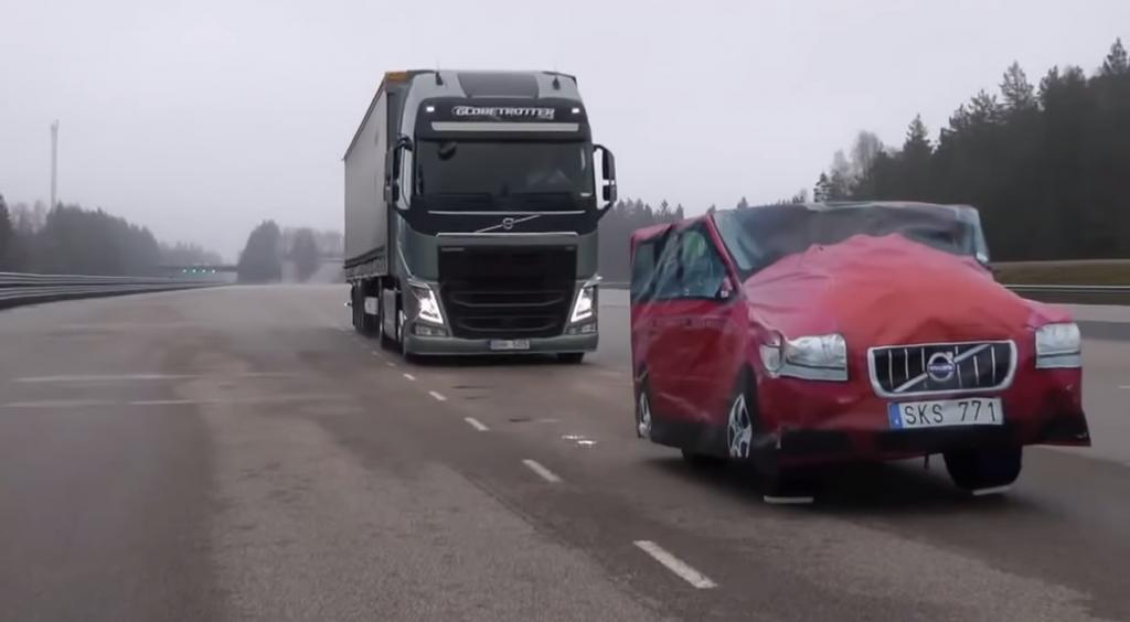 volvo brake autonomous